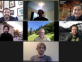 screenshot of students and professor on Zoom
